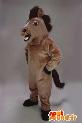 Mascota SpotSound Amazon caballo marrón personalizable. Disfraz de ...