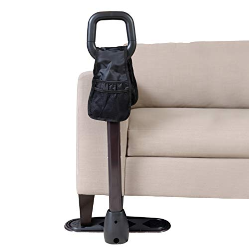 Stander CouchCane -  Ergonomic Safety Support Handle + Adjustable Living Room Standing Aid for Chair Couch & Lift Chair + Organizer Pouch