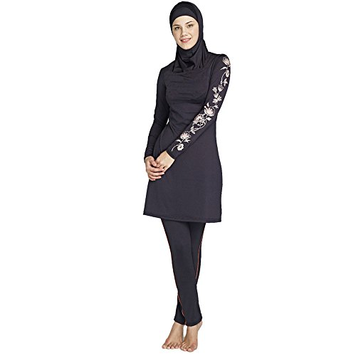 Full Cover Islamic Muslim Modest Beachwear 3 piece Swimsuit Size XXL 3XL 4XL