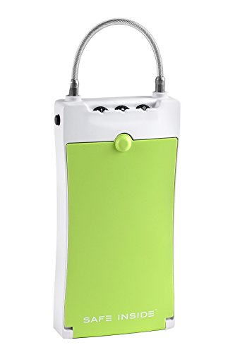 SafeInside 4500G Portable Case for Securing Small Items with 3-Digit Combination Lock, 12.13 Cubic inches, Green