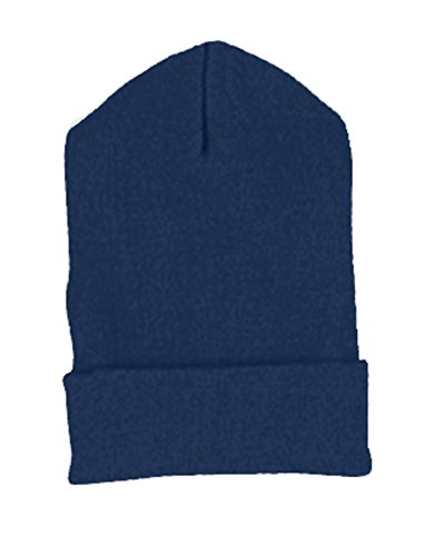 Yupoong Cuffed Knit Cap (1501)- NAVY, - Cap 1501 Knit Yupoong Cuffed