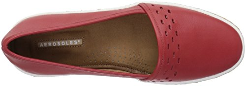 Aerosoles Women's Fun Times Slip-on Loafer Red Leather LNdPT