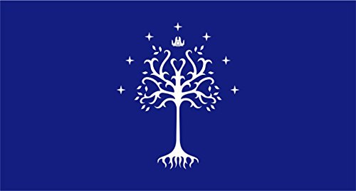 Lord of the Rings Flag | Gondor White Tree | 3x5 Ft / 90x150 cm | Large Long Lasting Flag