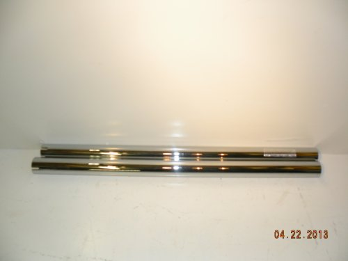 """Exhaust Drag Pipe Extension 32"""" Slip On Muffler Build Your Own Motorcycle Chrome!"""