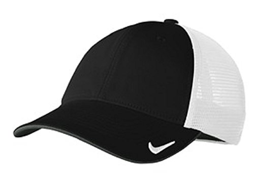 NIKE MESH BACK CAP GOLF HAT -889302-010-L/XL Black/White