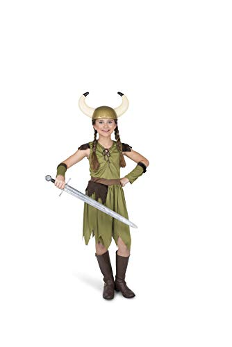 Girl's Viking Warrior Costume, for Halloween Party Accessory, Extra Large