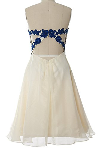 MACloth Women Strapless Short Lace Prom Party Dress Formal Cocktail Evening Gown Verde