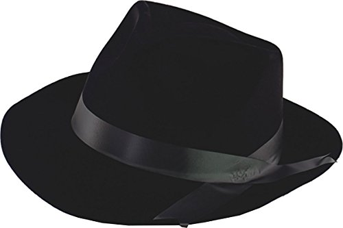 Flock Gangster Hat (Gangster Hat Black Flock)