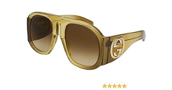 6920e3cc67 Amazon.com  Gucci GG 0152 S- 003 MULTICOLOR   BROWN Sunglasses  Clothing