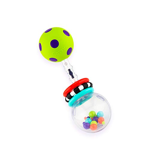 Sassy Spin Shine Rattle Developmental Toy (Colors May (Best Sassy Rattle)