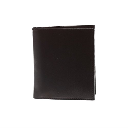 Paul & Taylor Black Leather Hipster Center Flap Bifold Wa...