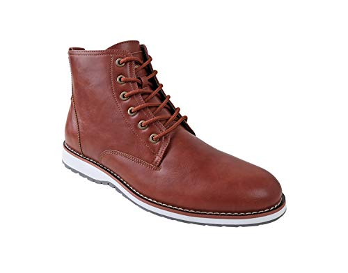 Ferro Aldo Men's Lincoln Ankle Boots | Lace Up | Mens Boots Fashion | Casual Fashion | Chukka Boots Men LI-Brown 11 D(M) US