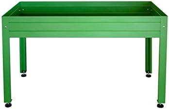 MESA DE CULTIVO Lacada verde. Medidas: Largo 150cm x Ancho 75cm x ...