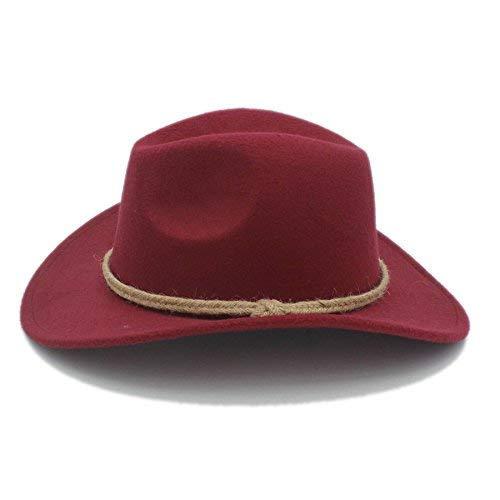 TOUYOUIOPNG Damen Wintermü tzen fü r Geschenk Retro Frauen Mä nner Chapeu Western Cowboy Hat fü r Gentleman Cowgirl Breiter Krempe Jazz Church Cap