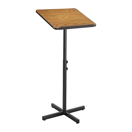 Stand Lectern Speaker (Safco Products 8921MO Adjustable Speaker Lectern Stand, Medium Oak)