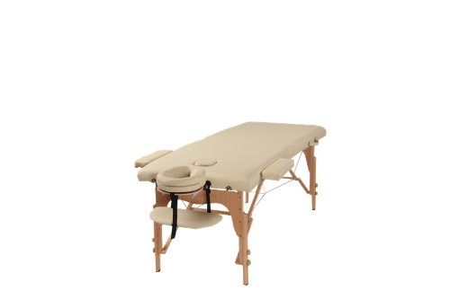 The Best Massage Table Two Fold Beige Portable Massage Table – PU Leather High Quality