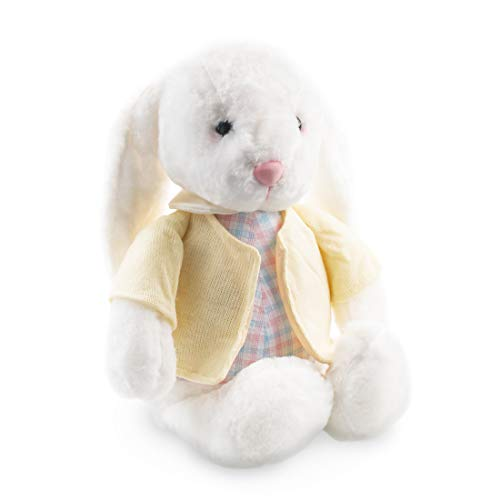 Cute Rabbit Plush Stuffed Animal - Soft Bunny Plush Toys for All Ages – Easter Gifts for Kids – Yellow - Measures 12 inch