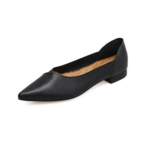 Xue Qiqi Court Schuhe Weisse Schuhe der Spitzen flachen Schuhe der Frauen beschuht Schuhe 37 schwarz