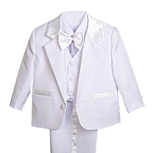Dressy Daisy Baby Boy' 5 Pcs Set Formal Tuxedo Suits No Tail Wedding Christening Outfits Size 3-4T -