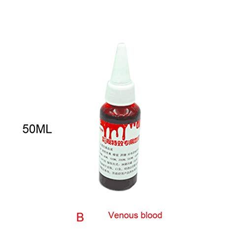 Kintaz 50/100 ML Fake Blood - for Theater and Costume or Halloween Zombie, Vampire and Monster Dress Up (50ML, B) -