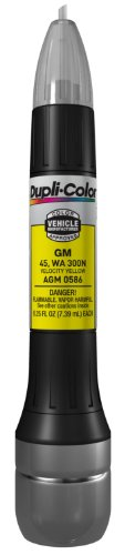 2011 General Motors Corvette - Dupli-Color AGM0586 Velocity Yellow General Motors Exact-Match Scratch Fix All-in-1 Touch-Up Paint - 0.5 oz.