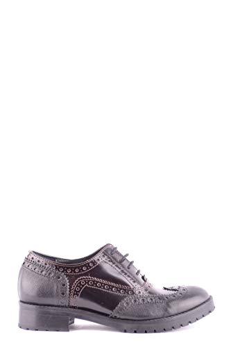 De Mujer Factory Zapatos Cordones Cl Cuero Negro Mcbi33071 Y5nwxX
