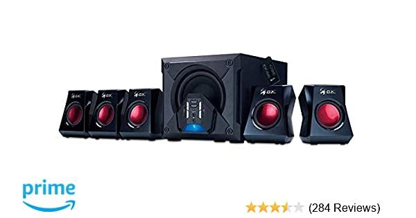 Genius GX-Gaming 5 1 Surround Sound 80 Watts Gaming Speaker System with  Remote Control (G5 1 3500)