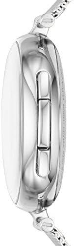 Skagen Connected Women's Signatur T-Bar Stainless Steel Mesh Hybrid Smartwatch, Color: Silver (Model: SKT1400) 3