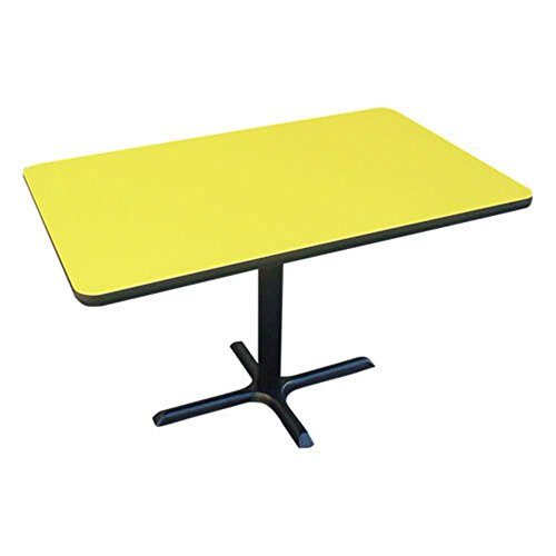 Correll, Inc. Rectangular Bar and Caf Table with Cross Base