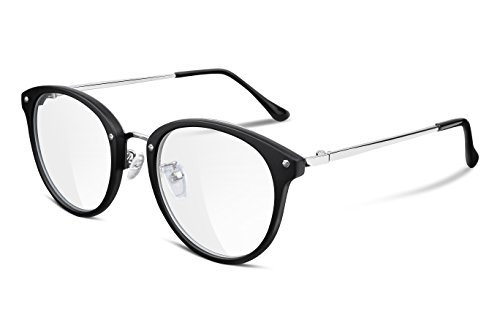 FEISEDY Women Vintage Glasses Frames Round Non Prescription Eyewear Clear Lens B2260 (Vintage Circle Frame Gläser)