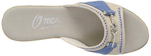 Mid Heel Denim Onex Women's Lynette Sandals Wedge ng0ES