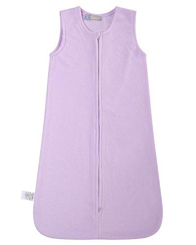 Kidsform Baby Micro-fleece Wearable Blanket Cozy Warm Safe Sleeping Bag with 2-Way Zipper 6M-3T Purple Small