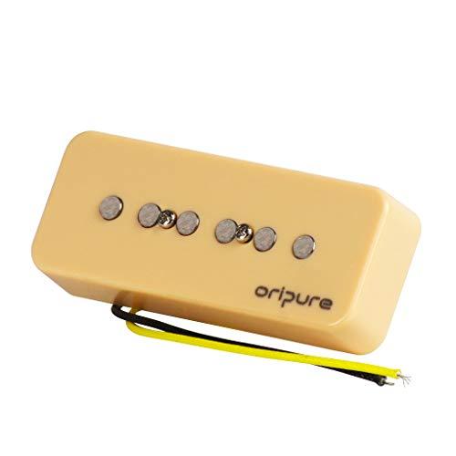 (OriPure Solid Alnico 5 Soap Bar P90 Pickup Bridge Guitar Pickup - Cream)
