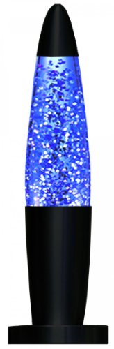 Creative Motion Black Base Sparkle Lamp, 13-Inch, Blue