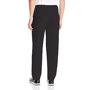 Hanes Men's EcoSmart Open Leg Fleece Pant with Pockets, Black, 2X