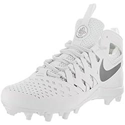 Nike Huarache V Lax White/Metallic Silver Men's Cleats Size 12