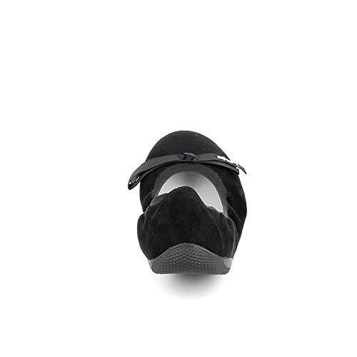 Bout 020 Noir Ballerines Ella Femme Bombes Fermé P'tites noir Velours Les wnvHZ4fxX