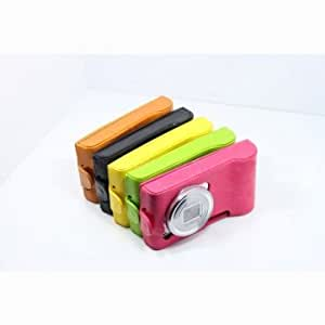 Colorful Leather Protective Case For Samsung Galaxy S4 Zoom C1010 --- Color:Orange