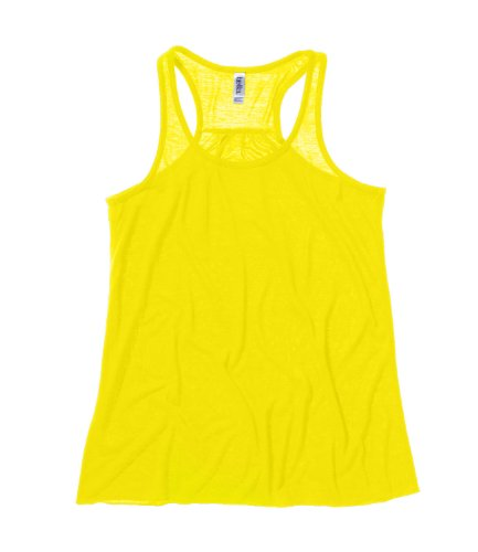 Diseño de corazón de Sally y lona espalda cruzada para mujer nivel de interrogatorio sin mangas de mujer Neon Yellow