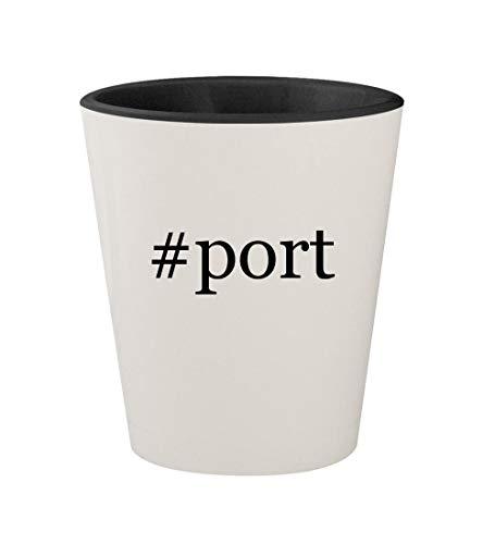 #port - Ceramic Hashtag White Outer & Black Inner 1.5oz Shot - Port Marco Authority 2 Polo