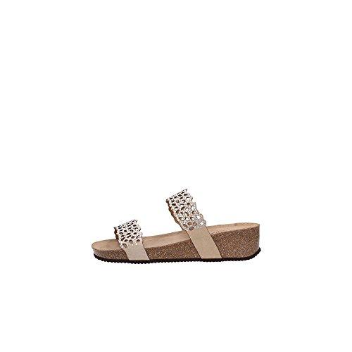 124a757f49395 Grunland, Anin Sb1064, Pantoufles Sandales, Cuir, Beige - 40. Chaussures  pour femmes ...