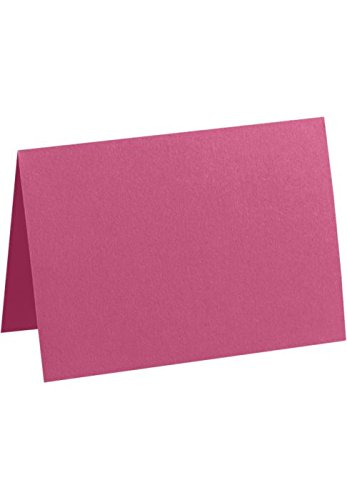 A1 Folded Notecards (3 1/2 x 4 7/8) - Magenta Pink (1000 Qty.) by LUXPaper