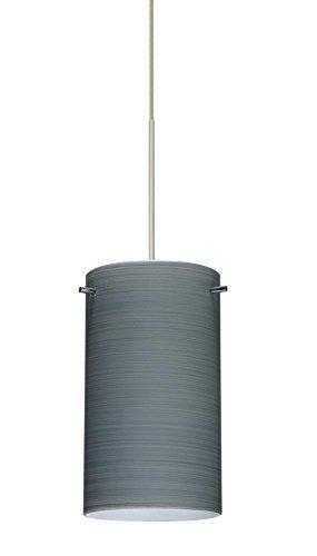 4404tn Led - Besa Lighting 1XC-4404TN-LED-SN 1X6W Led Lightsource Stilo 7 Pendant with Titan Glass, Satin Nickel Finish