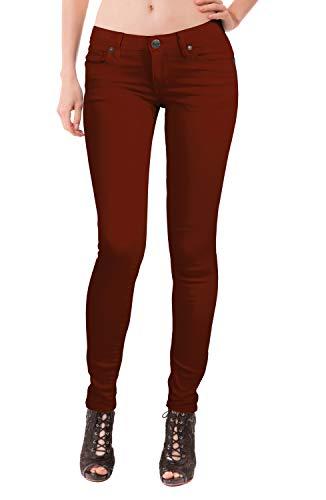 Women's Butt Lift Stretch Denim Jeans P37360SK Burgundy 5 ()