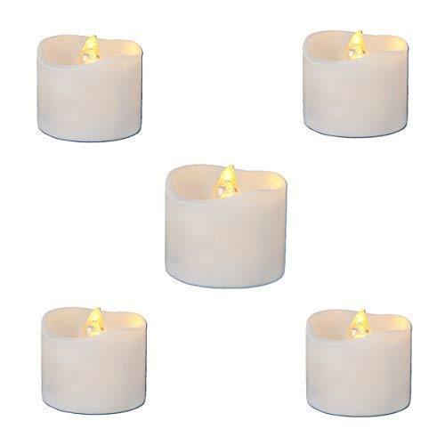 LED Candles Flickering Battery Operated Tea Lights LED Tea Lights Candles Tea Candles Battery Tea Lights Pack of 12 Electric Fake Candle Warm White Battery Operated Candles LED lights Battery Candle -