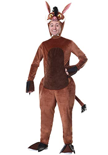 Adult Warthog Costume Medium Brown -