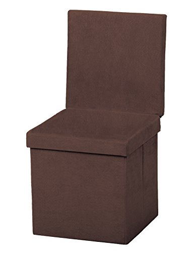The FHE Group Folding Chair/Ottoman, Chocolate Suede (Chair Polyester Suede)
