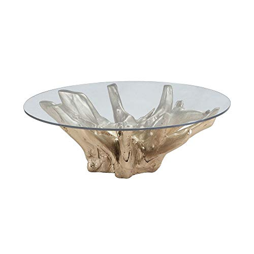 (Dimond Home 7011-002 Champagne Teak Root Coffee Table, 47