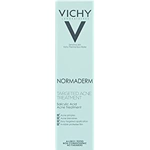 Vichy Normaderm Acne Treatment with Hyaluronic Acid and Salicylic Acid, 0.5 Fl. Oz.