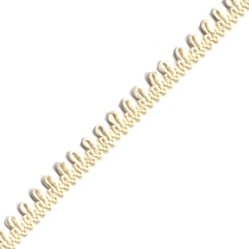 Venus Ribbon AZ2091 5/16-Inch Featheredge Braid, 5-Yard, Ivory